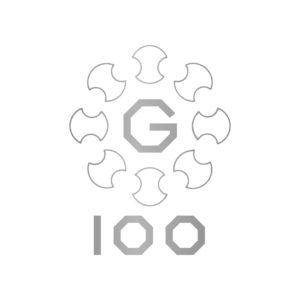 銀座通連合会100周年 ロゴ